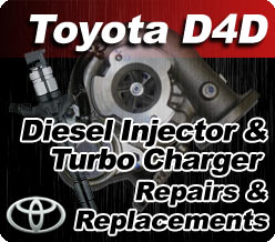 Toyota D4D Injector & Turbo Repairs & Replacement