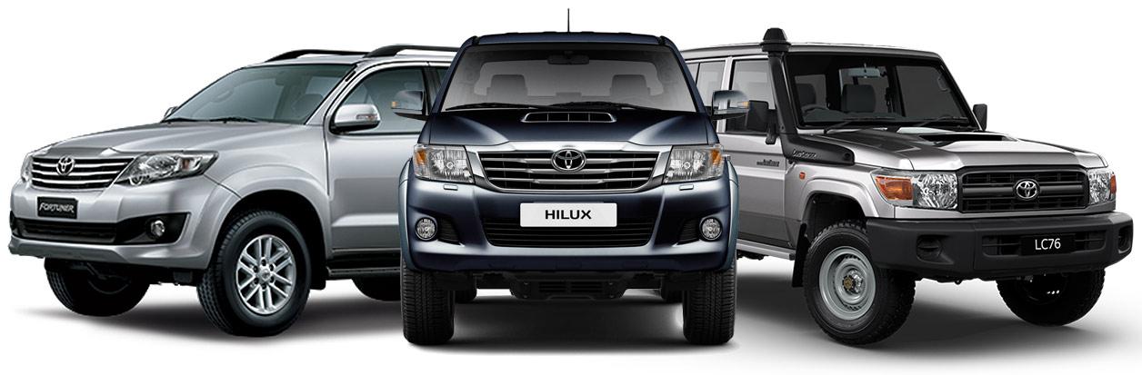 Toyota Hilux, Fortuner & Land Cruiser